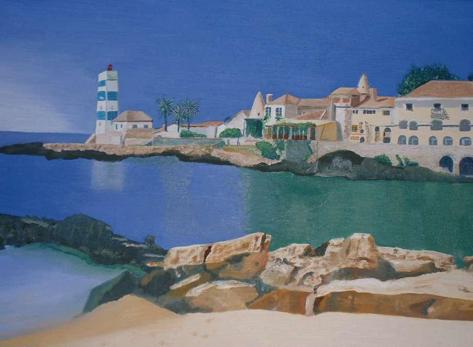 Cascais II oil painting by Robert Minchin